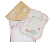 HiPP Invitation Kit Special Delivery Girl-HiPP Invitation Kit Special Delivery Girl, girls birthday invitation, baby shower invitation girls, elephant girls invitation, pink elephant invitation