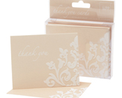 Thank you cards Damask Ivory HiPP-Thank you note cards damask ivory HiPP, wedding thank you notes, unique thank you notes, preprinted thank yous, damask thank you